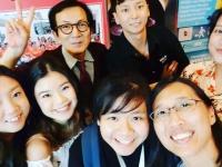 fulltime class students with teacher Harry Quek